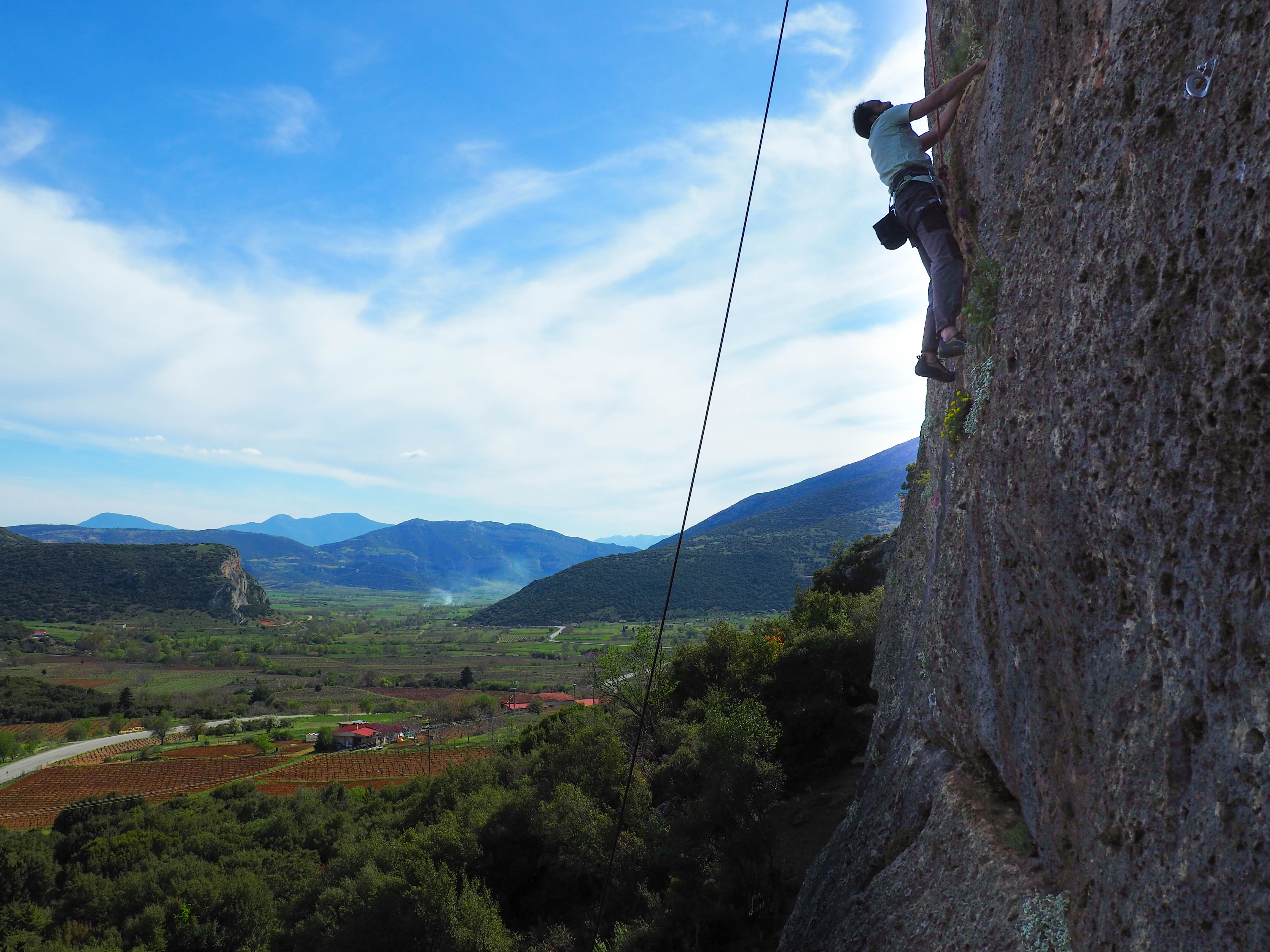 Αναρρίχηση στη Φρύγανη, Ορεινή Κορινθία